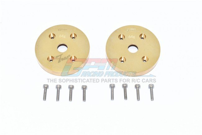AXIAL Racing CAPRA 1.9 UNLIMITED Brass Outer Portal Drive Housing (Front Or Rear) heavy Edition -10pc set - GPM SCX3021AX