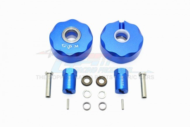 AXIAL Racing SCX10 Aluminum Pendulum Wheel Knuckle AXLE Weight + 21mm Hex Adapter - 14pc set - GPM SCX023