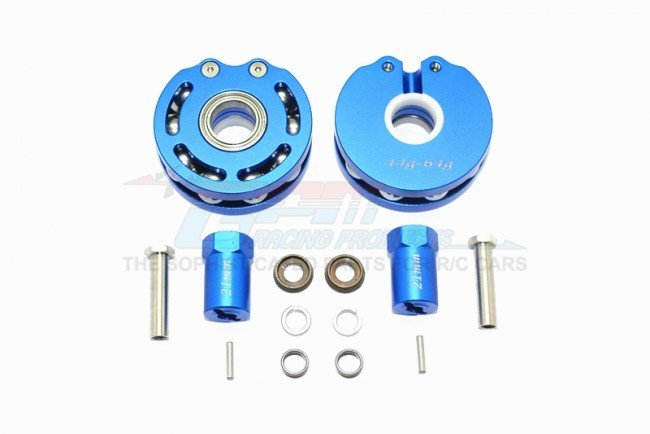 AXIAL Racing SCX10 Aluminum Pendulum Wheel Knuckle AXLE Weight + 21mm Hex Adapter - 14pc set - GPM SCX023A