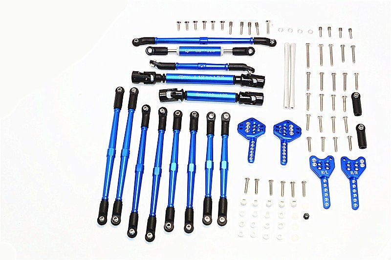 AXIAL Racing SCX10 II Aluminium Chassis Lift Up Combo (Tie Rods & Center Shaft & Damper Mount) - 1set - GPM SCX2HO160