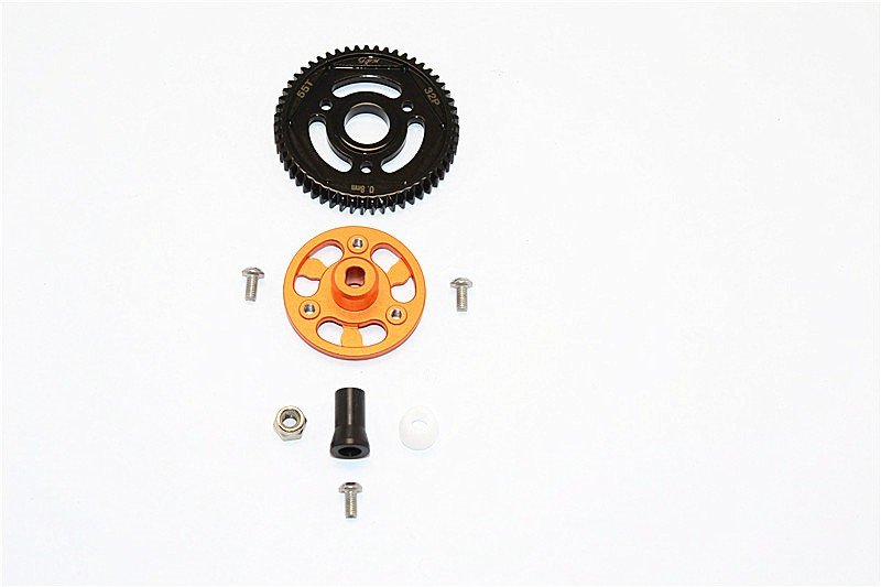 AXIAL Racing SCX10 II Aluminium Spur Gear Adapter+Steel Gear 55T - 1set - GPM SSCX271555T