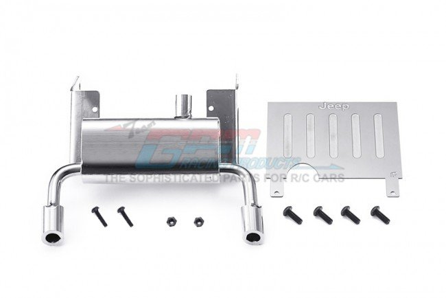AXIAL Racing SCX10 III JEEP WRANGLER Metallic Fuel Tank+Exhaust Pipe For SCX10 III Jeep - 10pc - GPM SCX3ZSP14