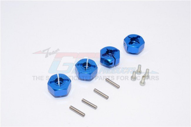 AXIAL SMT10 Aluminium Hex Adaptors (12mm) - 4pcs set (For Wraith, SMT10 Monster Jam AX90055) - GPM MJ010