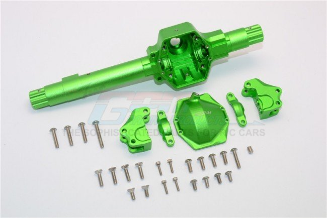 AXIAL Racing SMT10 Aluminium Front & Rear AXLE Housing assembly ( GPM upgrade Version) - 6pc set (For Smt10 Monster Jam AX90055, RR10 Bomber ) - GPM MJ012X
