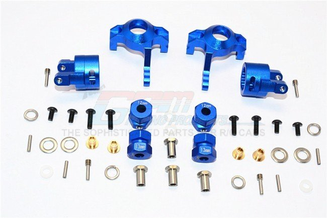 AXIAL SMT10 Aluminium Front C-Hub & Knuckle Arm (5 Degree Caster) - 4pcs set (For RR10 Bomber, Wraith, Wraith AX90045, SMT10 Monster Jam AX90055) - GPM MJ019021/5D