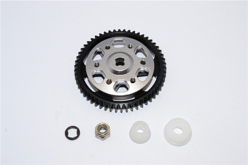 Axial Racing Wraith Aluminium Spur Gear Adapter + Steel Spur Gear 32 Pitch 54T - 2pcs set - GPM WR9554TS