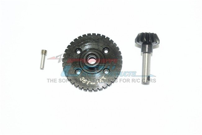 AXIAL Racing RR10 Bomber Harden Steel #45 Differential Bevel Gear 36T & Pinion Gear 14T - 3pc set - GPM YT1436TS