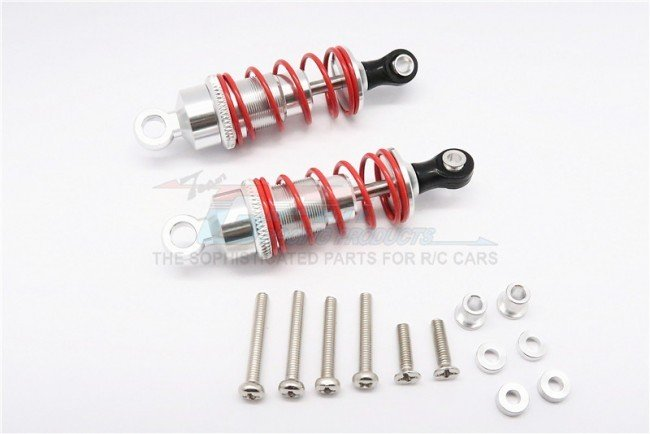 1/10 Touring - Alloy Ball Top Damper (60mm) With Alloy Collars & Washers & Screws - 1pr set - GPM DP060