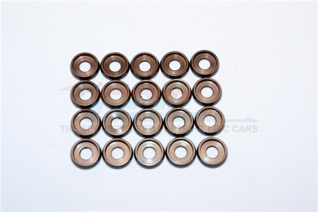 Spring Steel ID:3.0mm Ring ,OD:8.0mm,THK:0.6mm Button Flanged Washer - 20pc Set - GPM B30OD80TK06