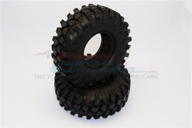 1.9\'\' Rubber Tires With Foam Inserts (Outer Diameter 96mm, Tire Width 37mm) - 1pr - GPM TIRE1937