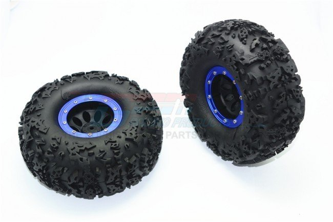 2.2'' Rubber Rally Tires And Plastic Wheels - 2pc set - GPM AW2206F/RA45