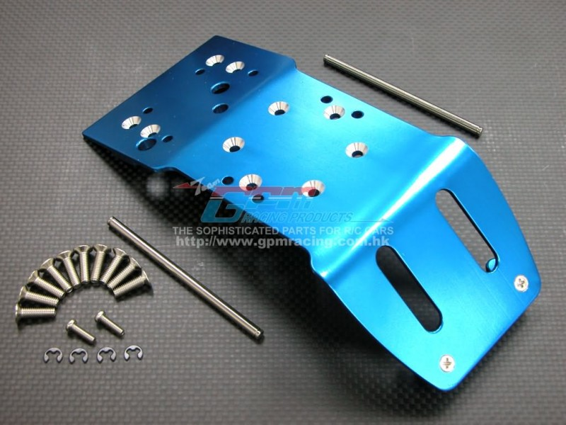 HPI Savage /Savage X /Savage XL /Savage Fluorescent x Alloy Rear Skid Plate With Pins & Screws & E-clips - GPM SAV1331R
