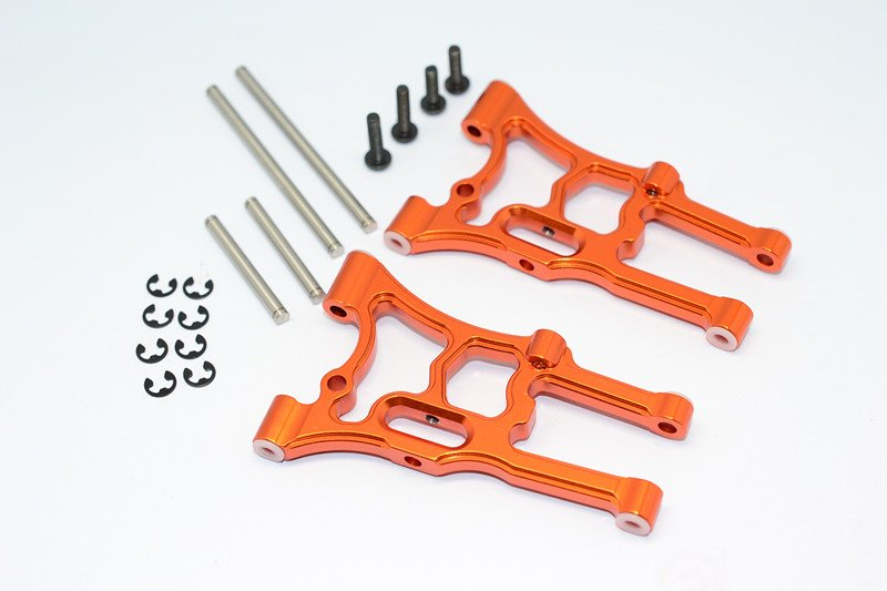 HPI WR8 Fluorescent x Aluminium Front Suspension Arm-1pr set - GPM WR8055