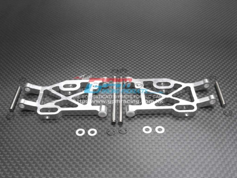 Kyosho Mini Inferno /Mini Inferno 09 Alloy Rear Lower Arm With E-clips & Pins & Delrin Collars - 1pr set - GPM MIF056
