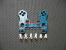 Kyosho Mini Inferno /Mini Inferno 09 Graphite Front Damper Plate With Screws - 1pc set Blue Graphite - GPM GMIF028B