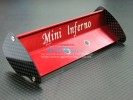Kyosho Mini Inferno /Mini Inferno 09 Alloy Rear Wing With Graphite Plate - 1pc set - GPM MIF040A/G