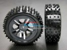 Kyosho Mini Inferno Plastic Front/Rear Sinkage Rims (5 Vacuum) With Radial Tires - 1pr set - GPM PMIF512887F/R
