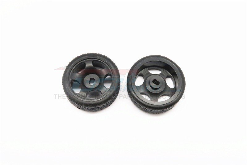 Kyosho Mini-Z AWD Delrin Front/Rear Ridge Rims (5p, 1.5mm Off set , Width 8.3mm) With Tires - 1pr set - GPM DMZA501FR15