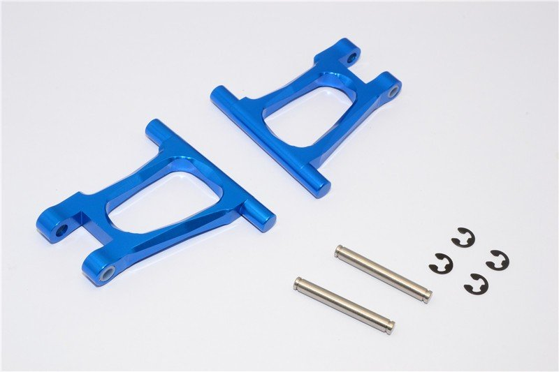 Tamiya TT01 Alloy Rear Upper Arm With Shims+Collars+E-clips+Pins - GPM TT057