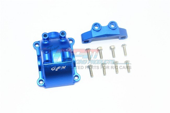 Tamiya TT02 Aluminum Front/Rear Gearbox Cover+Upper Arm Stabilizer - 10pc set - GPM TT2012A