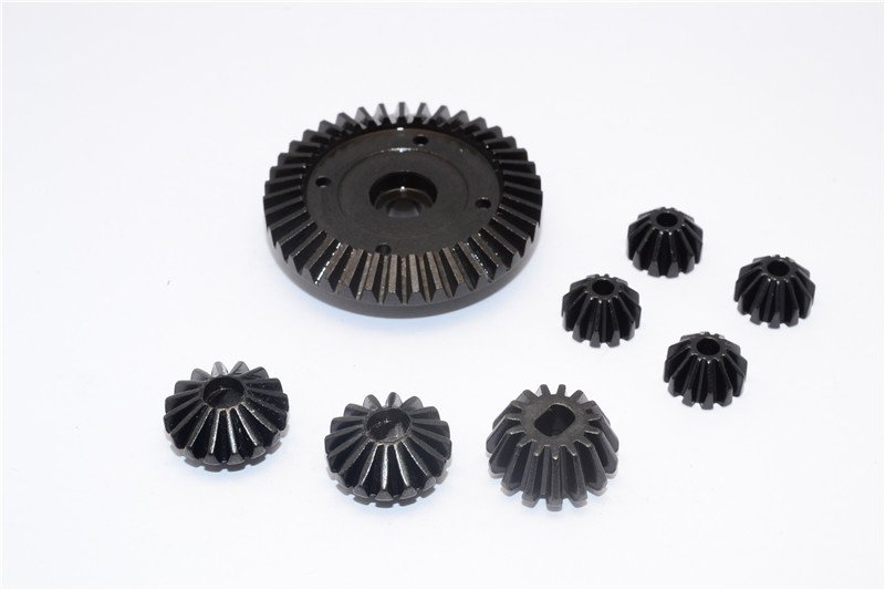 Tamiya TT02 Steel Ring Gear & Bevel Gear - 8pcs set (For TT02 / TT02B) - GPM TT2100