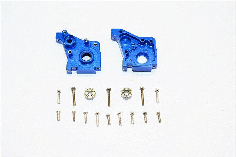 Team Losi Micro T Alloy Rear Gear Box - 1set (Include Bearing 2x5x2.5mm-2pcs & 3x6x2.5mm-2pcs) - GPM TM038