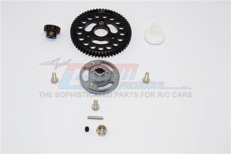 TRAXXAS CRANIAC MONSTER TRUCK Aluminium Spur Gear Adapter+Steel Gear 58T & 14T - 1set - GPM CRA155814T