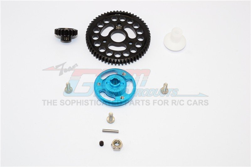 TRAXXAS CRANIAC MONSTER TRUCK Aluminium Spur Gear Adapter+Steel Gear 58T & 19T - 1set - GPM CRA155819T