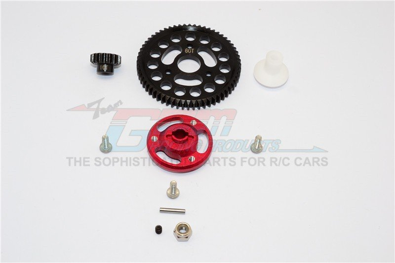 TRAXXAS CRANIAC MONSTER TRUCK Aluminium Spur Gear Adapter+Steel Gear 60T & 16T - 1set - GPM CRA156016T