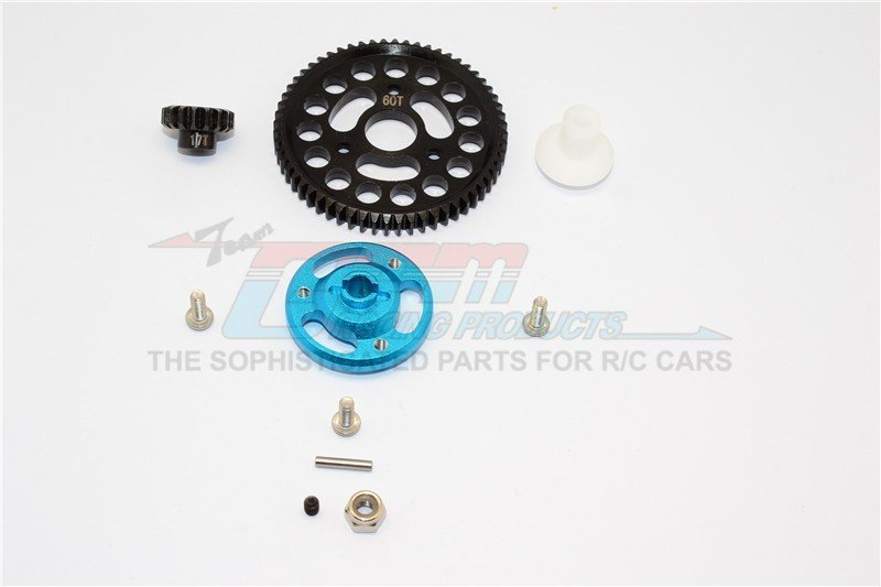 TRAXXAS CRANIAC MONSTER TRUCK Aluminium Spur Gear Adapter+Steel Gear 60T & 17T - 1set - GPM CRA156017T