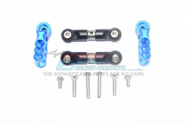TRAXXAS E-REVO VXL Aluminum Servo Horn With Stainless Steel Adjustable Steering Link - 8pc set - GPM ER216025S