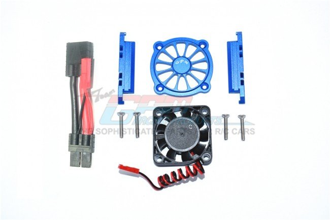 TRAXXAS MAXX MONSTER TRUCK Aluminum Motor Heat Sink With Cooling Fan - 9pc set - GPM TXMS018FAN