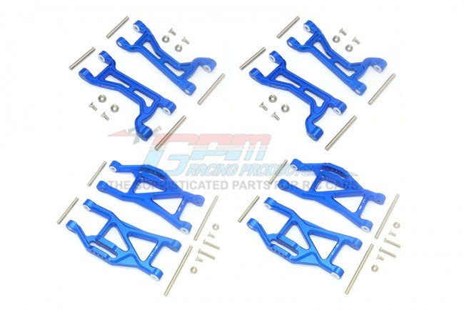 TRAXXAS MAXX MONSTER TRUCK Aluminium Front+Rear Upper+Lower Arms - 56pc set - GPM TXMS5455