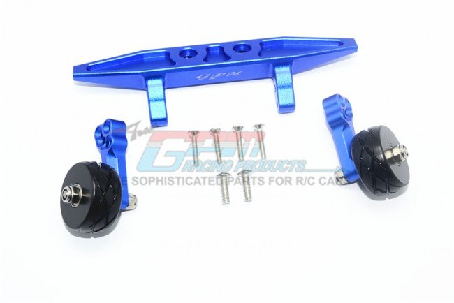 TRAXXAS 1/10 Rustler VXL Aluminum Rear Adjustable Wheelie - 9pc set - GPM RUS4040R