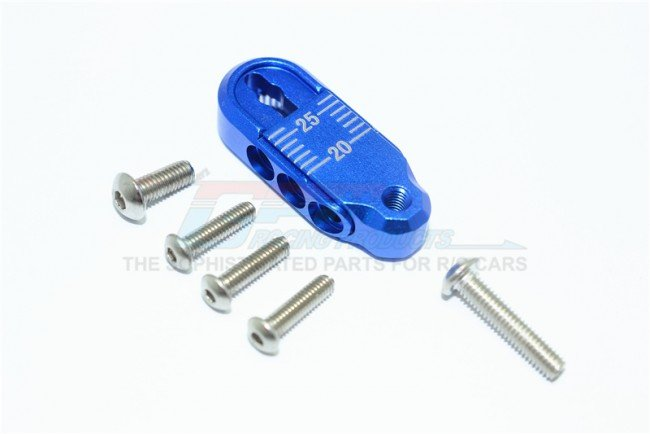 TRAXXAS TRX4 TRAIL CRAWLER Aluminum Adjustable Servo Horn (20-25mm) - 7pc set - GPM TRX4025TA