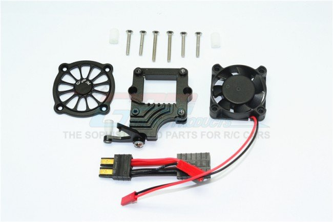 TRAXXAS TRX4 TRAIL CRAWLER Aluminum Motor Cooling Fan With Easy Switch - 12pc set - GPM TRX4051FAN