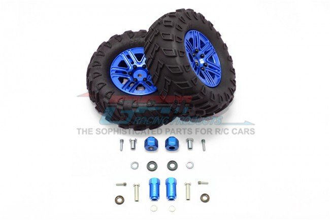 TRAXXAS TRX4 TRAIL CRAWLER 1.9' Aluminum 6 Spokes BBS Rims With Onroad Tires And 9mm Thick Alloy Hex - 12pc set - GPM TRX4889/9MM