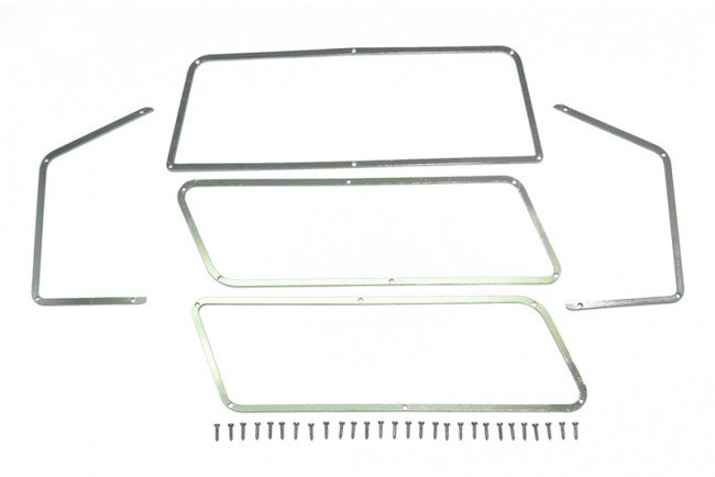TRX4 FORD BRONCO Stainless Steel Window Frame For TRX-4 Ford Bronco - 33pc set - GPM TRX4ZSP40
