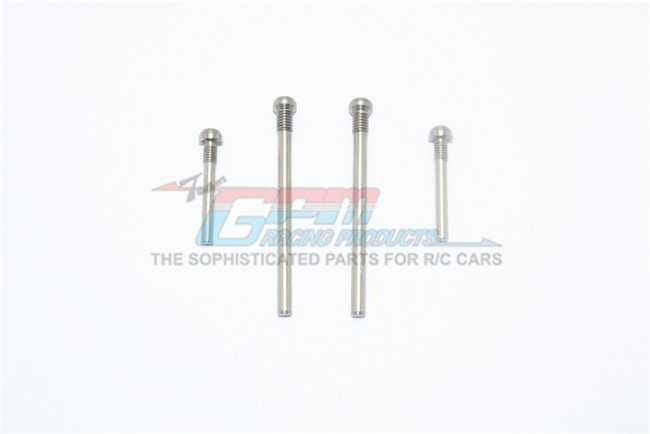 X-RIDER 1/8 FLAMINGO Stainless Steel Top Threaded Screws For Rear Lower Arms - 4pc set - GPM FL056AS